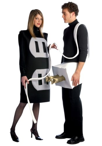 [Plug and Socket Set Costume Set - One Size - Chest Size 42-48] (Plus Size Adult Halloween Costumes Ideas)