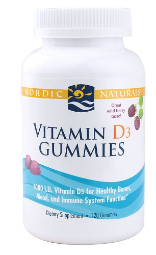 La vitamine D3 Gummies - Wild Berry Nordic Naturals 120 Gummy