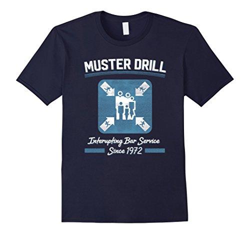 Mens Muster Drill Cruise Ship Funny Cruising T Shirt Xl Navy