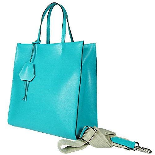 Gianni Chiarini - Borsa due manici in pelle , Gianni Chiarini, made in Italy - BS1612-222SAF D - - UNICA, Turchese