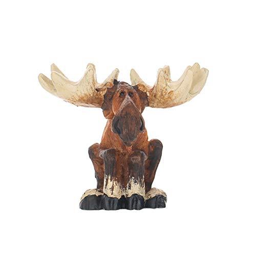 DEMDACO Big Sky Carvers Sitting Moose Mini Figurine (Bearfoots Moose)