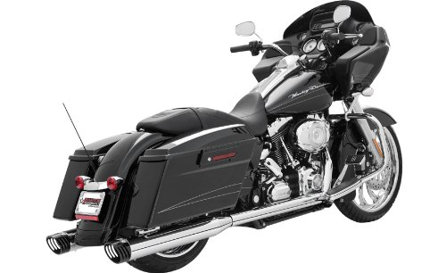 2009-2011 Dresser Chrome with Black Tips Dual Exhaust System - Frontiercycle (Free U.S. Shipping)