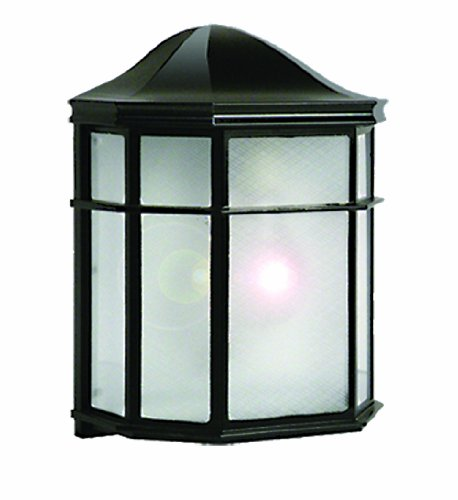 Marquis Lighting 9320-BL-AC Outdoor Wall Lights with Frost Acrylic Shades, Black