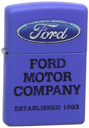 Zippo Pocket Lighter Ford Logo Pocket Lighter, Royal Blue Matte