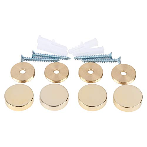 Mirror Screws,Brass Cap Decorative Mirror Nails,1