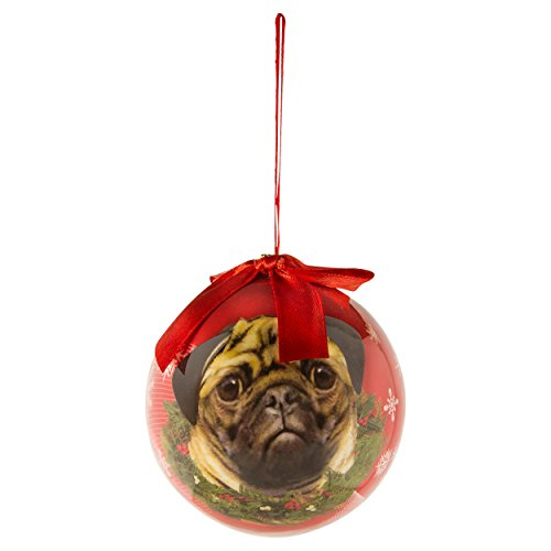 Where To Buy Christmas Decorations Year Round: Christmas Ornaments Pug Pet Design Tree Balls 3in New Year