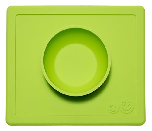 - ezpz Happy Bowl - One-piece silicone placemat + bowl (Lime)