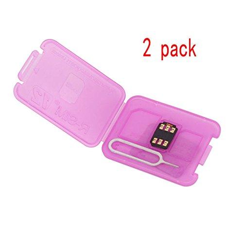 Zehui Trade RSIM 12 R-SIM Nano Unlock Card, R-SIM 12 Smart 4G Card Unlock Card Adapter Converter Kits with Tools For IPhoneX 8P 8 7P 7 6SP 6P 6S 6 5C 5S 5 (2 packs)