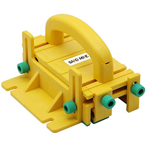 Block Saw - SAND MINE Pushblock for Table Saws, Router Tables, Band Saws (Yellow)