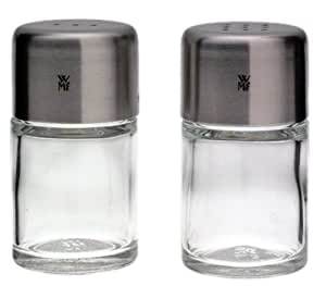 WMF Bel Gusto Glass Mini Salt & Pepper Set with Stainless Steel Lids
