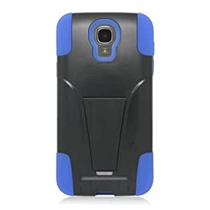 EagleCell Hybrid Protective Skin Case Cover with Stand for Samsung ATIV SE / W750 - Retail Packaging - Blue/Black