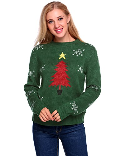Christmas Tree Pullover Sweater in 4 Colors