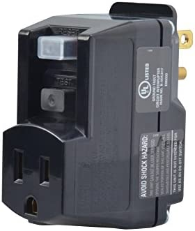 Yellow Jacket 2762 120 Volt 15 Amps 1800 Watts Single Outlet Gfci Adapter For Indoor Use With Manual Reset Black Computer Surge Protectors Amazon Com