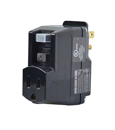 Yellow Jacket 2762, 120-Volt, 15-Amps, 1800-Watts Single Outlet GFCI Adapter, For Indoor Use With Manual Reset, Black ()