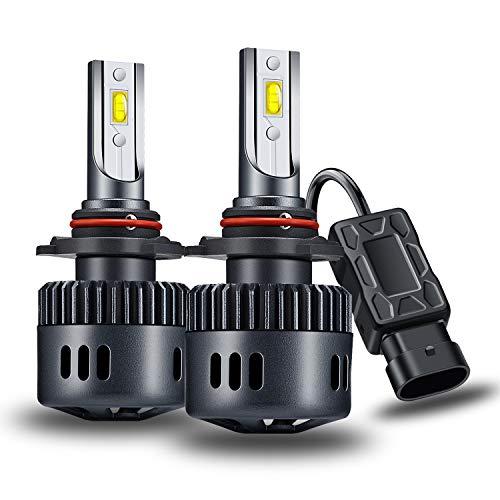 Yosaky 9012 LED Headlight Bulbs 6000K 6000LM HIR2 Headlight Bulb Conversion Kit ()