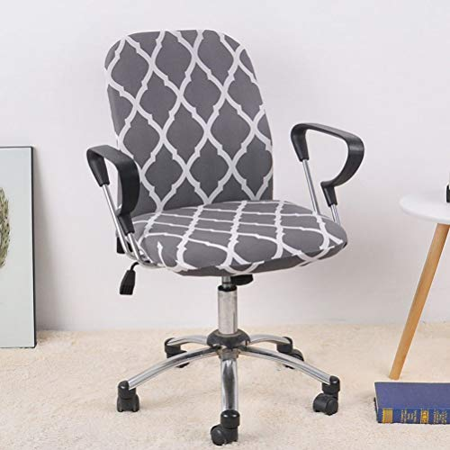 WEEFORT 2Pcs Set Removable Office Chair Cover Anti-Dirty Washable Slipcover Spandex Computer Lift Soft Seat Case