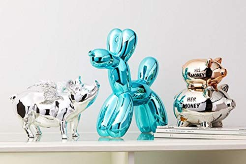 Interior Illusions Blue Balloon Dog Bank by Interior Illusions Plus (Image #3)