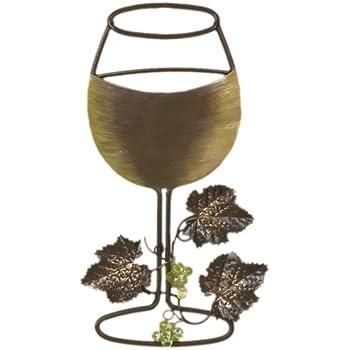 Tripar White Wine Glass Metal Wall Decor