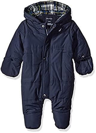 Amazon Com Nautica Baby Solid Snowsuit Sport Navy 0 3