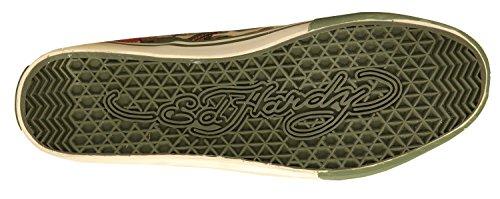 Ed Hardy Hommes Sneakers vert/beige 17DK104M-GORILLACAMO