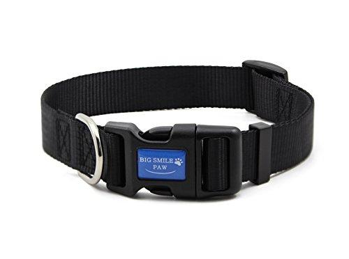 BIG SMILE PAW Dog Collar Adjustable,Quick Release Nylon Dog