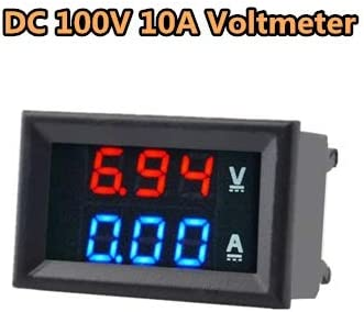 Zhichuang ミニデジタルvoltímetroamperímetroDC 100V 10Aデルvoltímetroデルmedidorデcorrienteデアズール+ロホデDOBLE LED pantalla (色 : DC 100V 10A Voltmete)