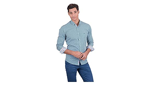La Vespita Camisa con Estampado de Vichy y Logo Vespa: Amazon.es ...