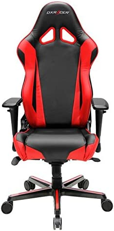 DXRacer OH RV001 NR Racing Series Black and Red Gaming Chair – Includes 2 Free Cushions
