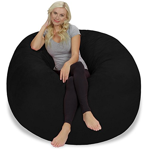 41PVIZFEbDL - Chill-Sack-Bean-Bag-Chair-Giant-5-Memory-Foam-Furniture-Bean-Bag-Big-Sofa-with-Soft-Micro-Fiber-Cover