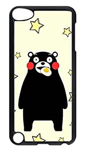 Brian114 Case, iPod Touch 5 Case, iPod Touch 5th Case Cover, Cute Cartoon Bear Retro Protective Hard PC Back Case for iPod Touch 5 ( Black )