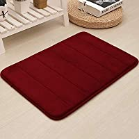 0.6 in Memory Foam Bath Mat Large Size 24 by 16 Inches, Comfortable, Soft, Maximum Absorbent, Machine Wash, Non-Slip…