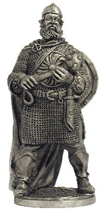 Russian warrior Ilya Muromets Tin Toy Soldiers Metal Sculpture Miniature Figure Collection 54mm (scale 1/32) (M139)
