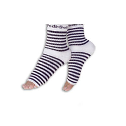 PEDI SOX Black and White Stripes 1 pair