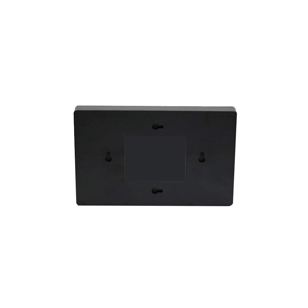 Wall Mounted Decibel Meter Sound Level Meter Tester 30-130DB Large Screen LCD Display Wall Hanging Type Decibel Noise Measuring with Alarm Black