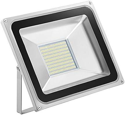 Foco proyector LED 100W para exteriores, 7000LM, Blanco frio 6000 ...
