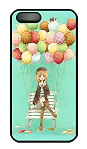 iPhone 5 5S Case PC Customized Unique Print Design Anime Balloon Girl iPhone 5/5S Cases