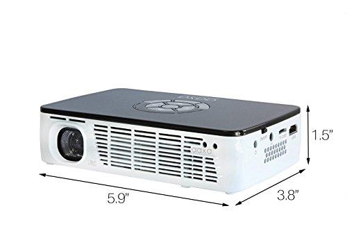 اسعار AAXA Technologies P300 Pico Projector with Rechargeable Battery - Native HD resolution with 500 LED Lumens, For Business, Home Theater, Travel and more