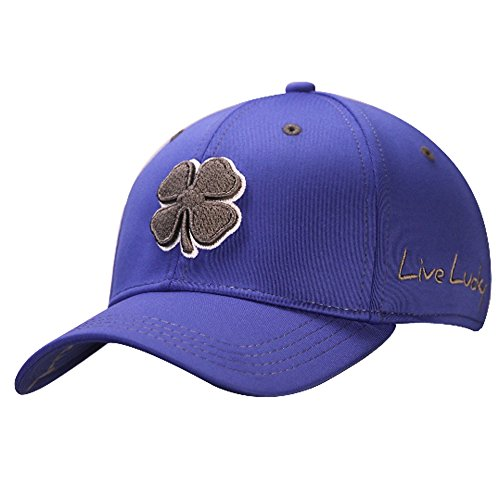 Black Clover Mens Premium Clover #5 Grey/White/Royal Small/Medium Fitted Hat - 617353831382 Black Royal Fitted Hats