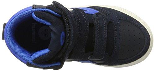 Hummel Stadil Leather Jr, Zapatillas Altas Unisex Niños Azul (Total Eclipse)