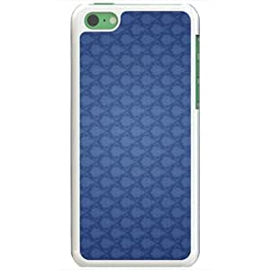 Diy Yourself Apple iPhone 5 5s case covers Customized Gifts Of 3D Graphics Blue Floral Wall Pattern 3d Abstract VOc8venqtlH White