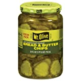 Mt. Olive Bread And Butter Chips Old Fashioned Sweet Pickles