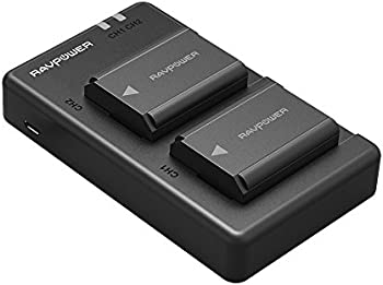 2-Pack RAVPower NP-FW50 Camera Battery Charger Set