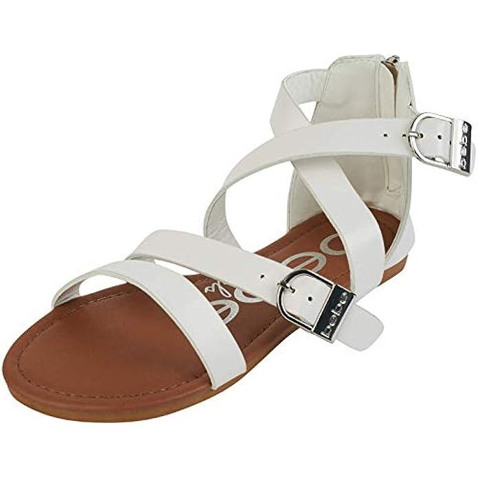bebe Girls Double Buckle Gladiator Sandals (Little Kid/Big Kid)