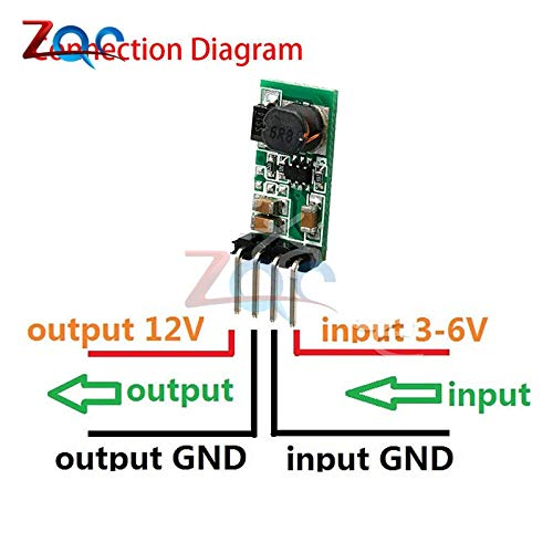 DC 3.3V 3.7V 5V 6V to 12V Step up Boost Power Supply Module for Arduino UNO Breadboard Development Voltage Regulator Converter