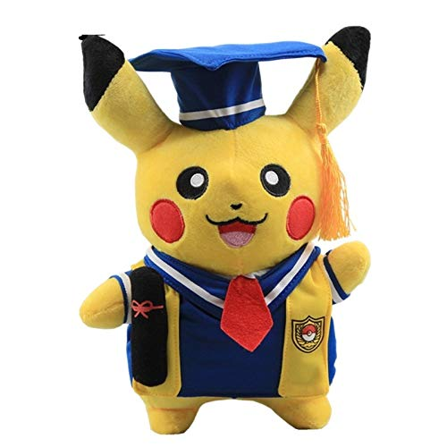 PAPWELL Pikachu Toy 11 inch Hot Toys Pokemon Soft Stuffed Plush Christmas Halloween Birthday Stuff Collectable Gift Movie Cartoon Big Collectible Gifts Cute Large Collectibles for Baby Kids -