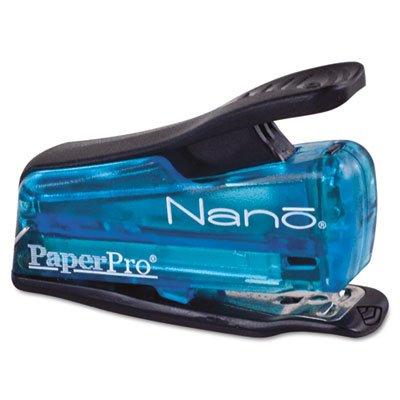 Nano Miniature Stapler, 12-Sheet Capacity, Translucent Blue, Sold as 1 Each