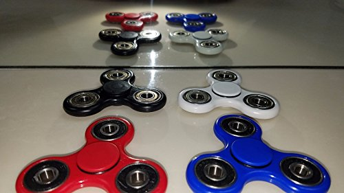 Hand Spinner Fidget Toy EDC Smooth NON-3D printed w/Bones Super REDS Bearing NEW