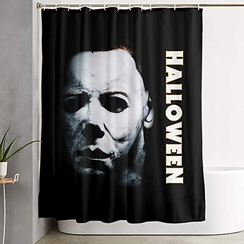 Shower Curtain, Halloween Michael Myers Bathroom Fabric Curtains Tub Large Bath Curtain Set with Rings -