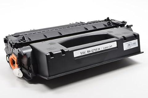 InkClub Laser Toner Cartridge Compatible With Q7553X, 53X Black High Yield Toner Cartridge Use for LaserJet M2727nf MFP, P2014, P2015, - P2015x Laser Printer