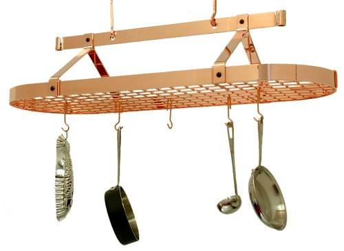 - Enclume 4-Foot Oval with Grid Premier Ceiling Rack, Copper
